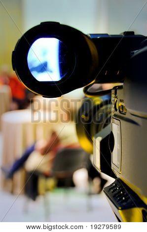 Professional digital video camera shoots the TV show
