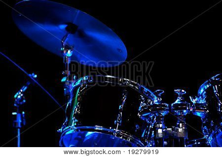 Drum Kit on the stage