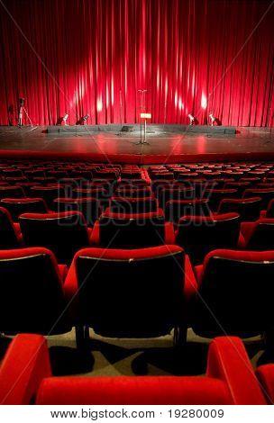 Cinema - theater red interior