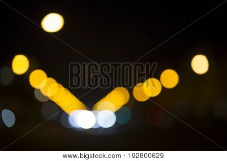 Colorful Bokeh On Black Background