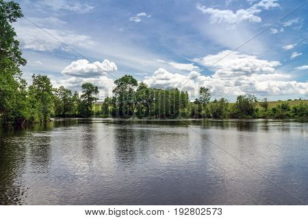 Maskinonge River at St-Gabriel-de-Brandon in the province of Quebec in Canada
