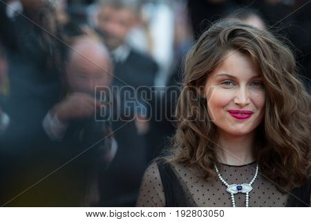 Leticia Casta attends the 70th Anniversary screening  premiere for at the 70th Festival de Cannes. May 23, 2017 Cannes, France