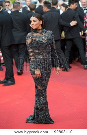 Eva Longoria attends the 70th Anniversary screening  premiere for at the 70th Festival de Cannes. May 23, 2017 Cannes, France