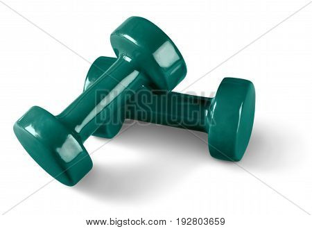 Equipment weight fit fitness dumbbells sport activity