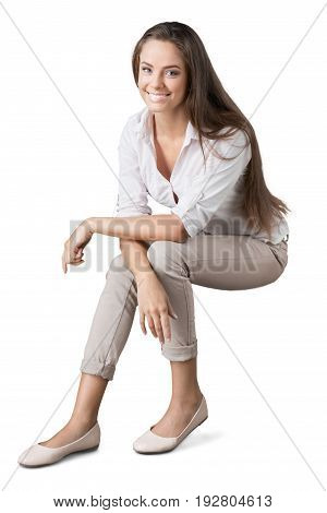 Business young pretty woman businesswoman background beautiful