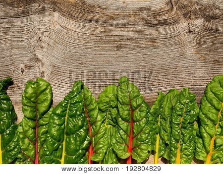Flat Lay Rainbow Swiss Chard Healthy Diet Recipes Mock Up  Background