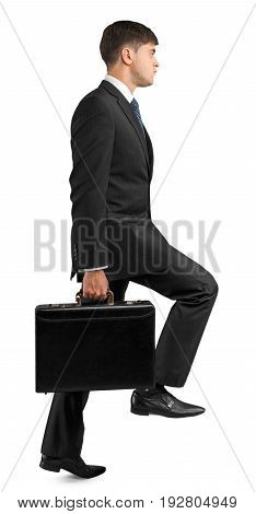 Business young man businessman looking at camera formal wear white