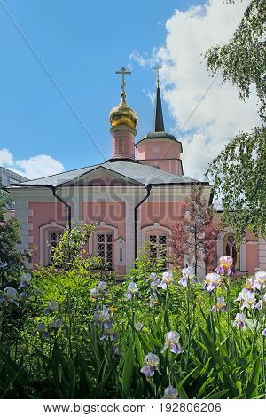 Moscow Russia - June 23 2017: The Church of the intercession in Pokrovskoe Streshnevo village. Volokolamskoe highway 52. Moscow