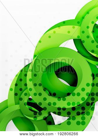 Circle background design with abstract swirls