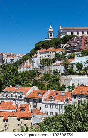 The Streets On The Castle Hill Under Castelo De S. Jorge, Lisbon