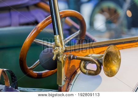 Vintage car - retro technology background