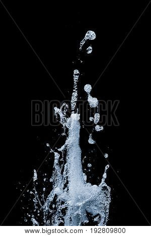 Fresh pure water spout renewable sustainable clean top energy 9. Beautiful freezed motion in life of h20 fluid. Outburst power splashes from bottom to top. Healthy method to prevent climate change.