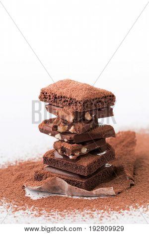 Picture pyramid of milk chocolate