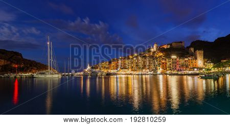 Portovenere in Cinque Terre - Italy - architecture background