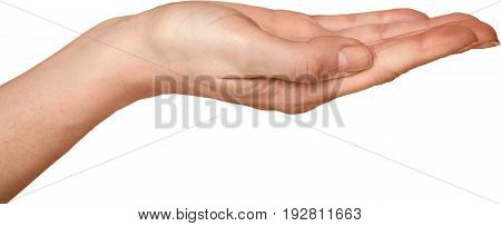 Hand gesture background object isolated single business