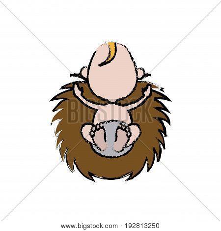 christmas baby jesus manger image vector illustration
