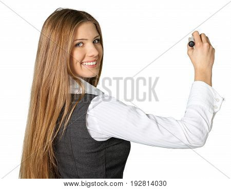 Business young portrait woman businesswoman background beautiful