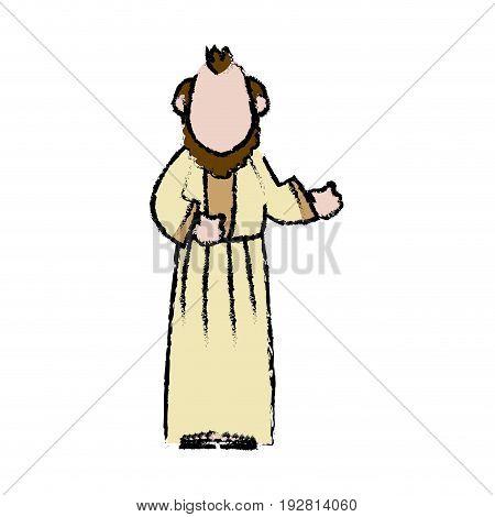 man epiphany manger character design vector illustration