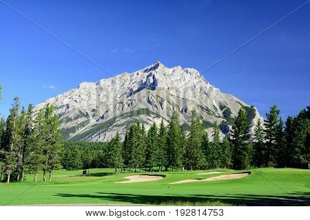 Beautiful mountain landscapes in Banff National Park.
