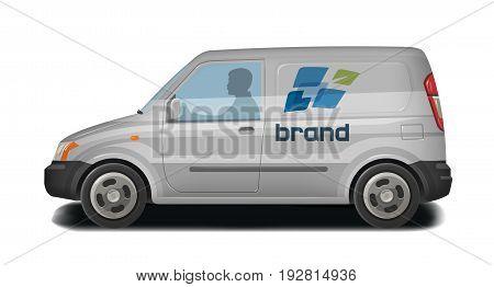 Car, vehicle, minivan icon. Delivery, cargo transportation, transport, traffic identity Vector illustration isolated on white background