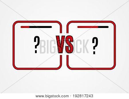 Versus Logo. VS Vector Letters Illustration. Competition Icon. Fight Symbol