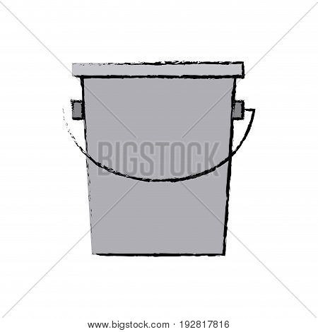 empty bucket icon simple container element vector illustration