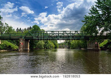 Maskinonge River Bridge Saint-Didace Quebec Canada summer