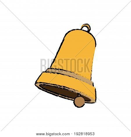 christmas bell single flat icon on white background vector illustration