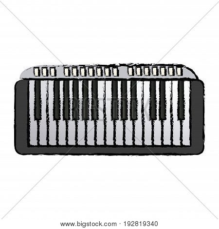 musical piano key keyboard melody instrument vector illustration
