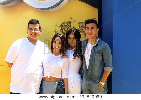 LOS ANGELES - JUN 24:  Becky G, Siblings at the