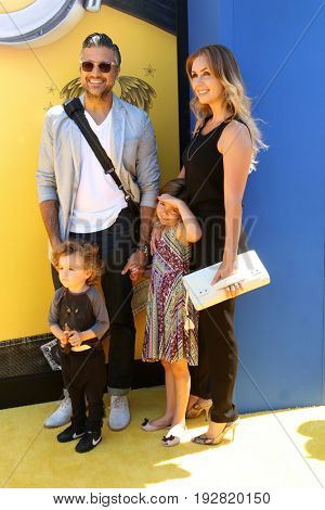 LOS ANGELES - JUN 24:  Jaime Camil, Jaime Camil III, Elena Camil, Heidi Balvanera at the