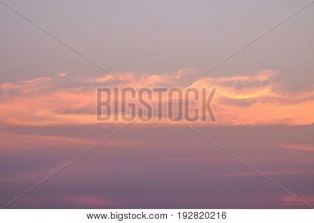 Beautiful tropical sunset beach silhouette over the sea Feel like dramatic zone.