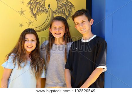 LOS ANGELES - JUN 24:  Sophia Grace Brownlee, Cousins at the