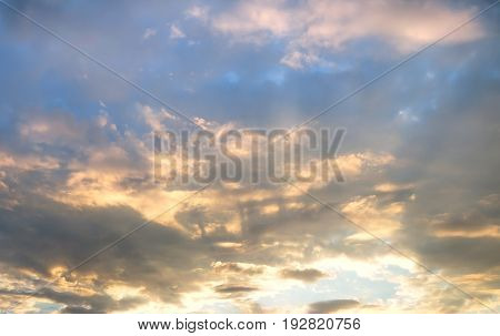 Landscape view of sunset at the city in Moscow Russia.Feel like dramatic and depress.