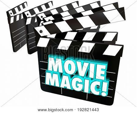 Movie Magic Film Clapper Boards Special Effects 3d Illustration