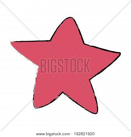 pink star fish sea animal wild icon vector illustration