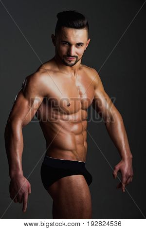 Guy With Muscular Body In Underwear Pants