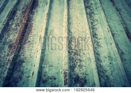 An old roof is rusty rough texture background