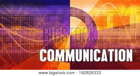 Communication Focus Concept on a Futuristic Abstract Background