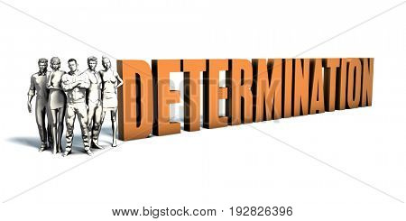 Business People Team Focusing on Improving Determination as a Concept 3D Illustration Render