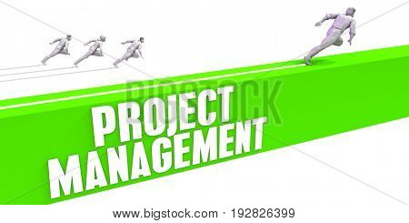 Project Management as a Fast Track To Success 3D Illustration Render