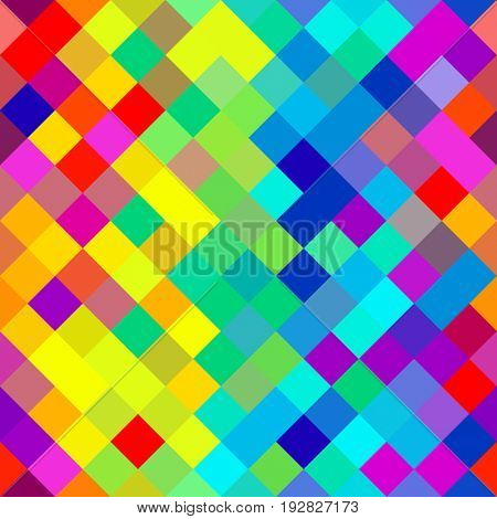Repeating Pattern with Seamless Pixel Art Background Abstract