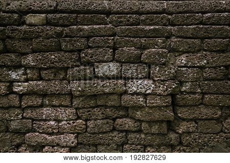 old stone wall texture and background close up