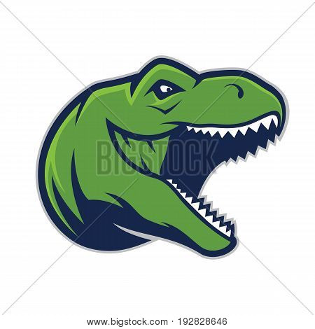 Clipart picture of a raptor head cartoon mascot logo character