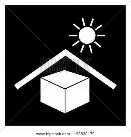 PROTECT FROM HEAT BLACK direct sun light packaging package