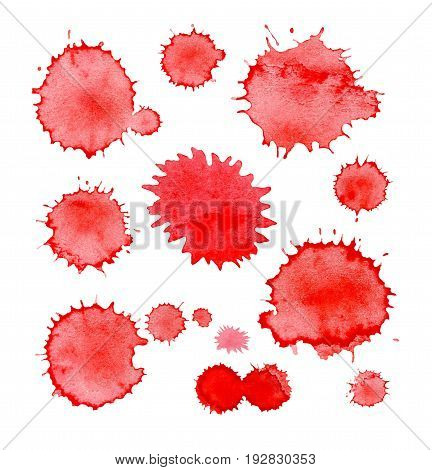 Blood Splashes Drops And Trail