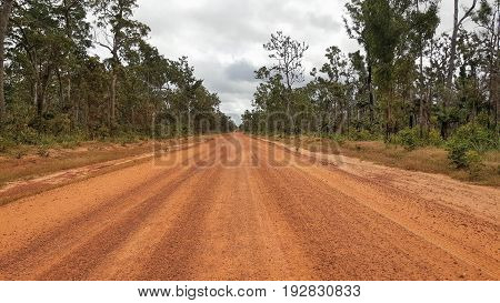 Cape York Australia orange dirty and dusty road