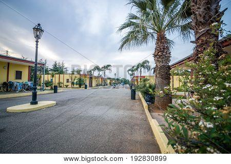 Refugee camp in San Vito dei Normanni Puglia southern Italy