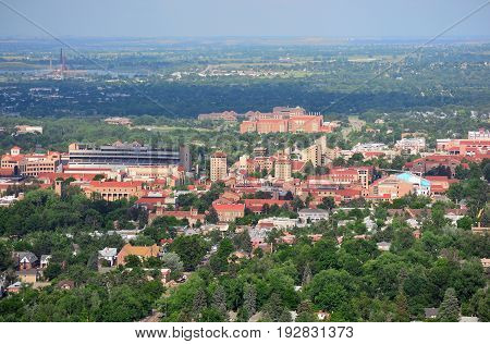 University of Colorado Boulder Campus on a Sunny Day