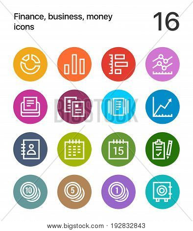 Colorful Finance, business, money icons for web and mobile design pack 2